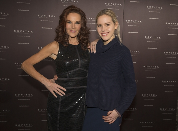 Rhonda Burchmore and her daughter Lexi at the Sofitel 20th Anniversary in Melbourne Cocktail Party